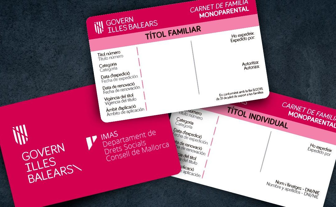 El Institut Mallorquí d'Afers Socials (IMAS) encarga a nuestro partner oficial TEC-SOFT las tarjetas de familia monoparental y de familia numerosa